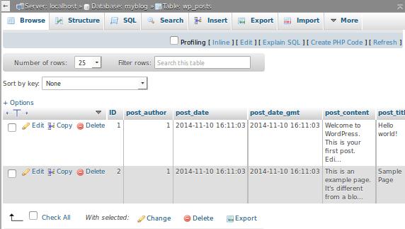 how to take backup from mysql database